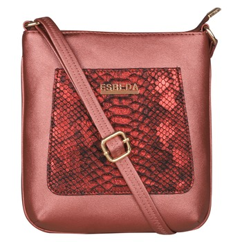Esbeda Maroon Color Medium Size Shiny Glitter Slingbag For Womens
