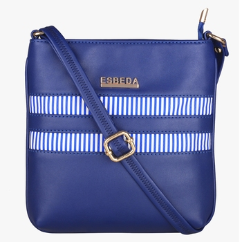 Esbeda Navy Blue Color Medium Size Rayon Slingbag For Womens