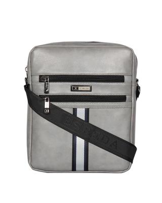 Esbeda Grey Color Solid Rodeo Crossbody Sling bag For Men