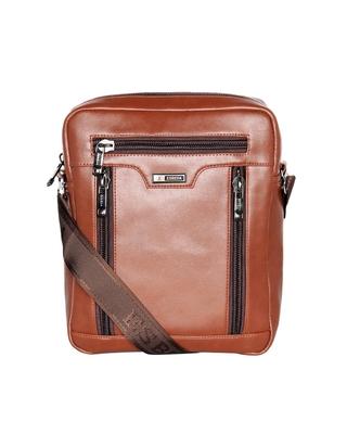 Esbeda Tan Color Solid Pattern Rodeo Crossbody Sling bag For Mens