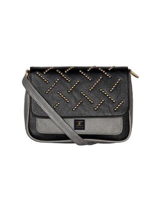 Esbeda Grey Color solid Ball stud Sling Bag For Women