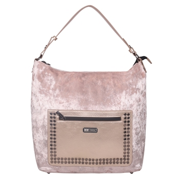 Esbeda Beige Solid PU Synthetic Totebag For Women's