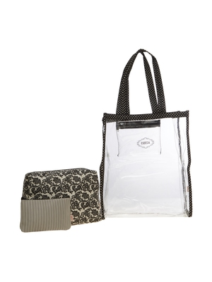 Esbeda Black Printed Pu Synthetic Material Travelling Kit For Women