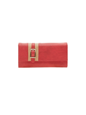 Esbeda Red Solid Pu Synthetic Material Wallet For Women