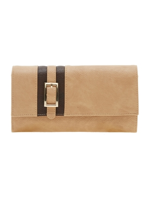 Esbeda Beige Solid Pu Synthetic Material Wallet For Women