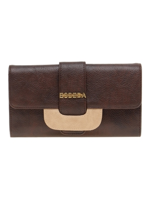 Esbeda Brown Solid Pu Synthetic Material Wallet For Women
