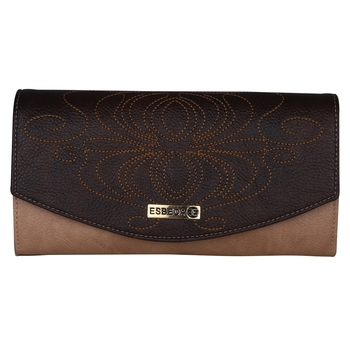 Esbeda Brown Color PU Synthetic Material Stiches Wallet For Womens