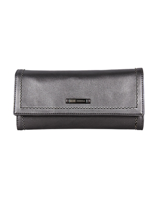Esbeda Grey Color Small Size Solid Holo Trifold wallet For Women