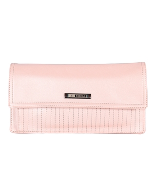 Esbeda Pink Color Small Size Solid Flapover Wallet For Women