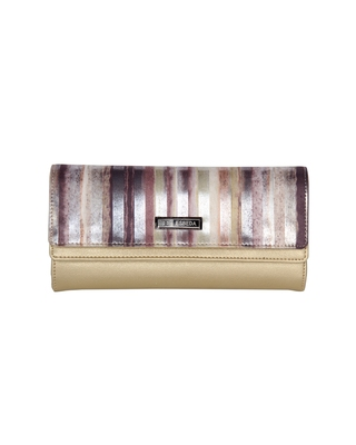 Esbeda Gold Color Printed Fusion wallet For Women