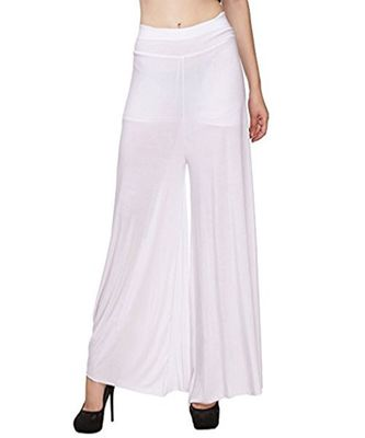 white Rayon Palazzo For Women's