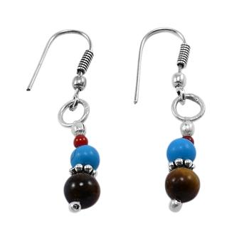 Multicolor turquoise earrings