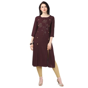 Elora Rayon Stone Work Kurti for Women
