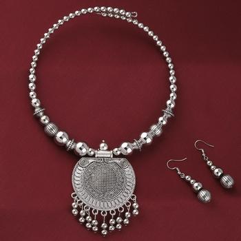 Oxidised Party Wear Pendant Set Jewellery For Girls Women