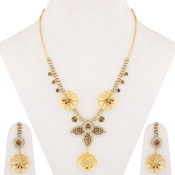 Attractive Gold Plated Traditional Diamond Jewellery Set For women girl