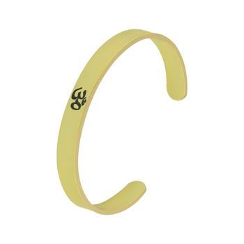 Gold Plated Stylish Bracelet Adjustable OM Design Kada for Men