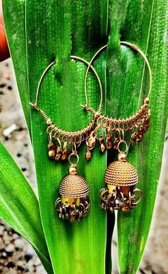 Gold Plated Hoops Jhumka