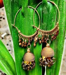 Gold Plated Hoops Jhumka
