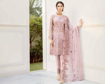 Ramsha Rangoon Volume 5 – Design 504  cream embroidered lawn unstitched pakistani suit