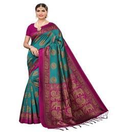 Indian Saree Heavy Work Silk Designer Party Wear Multicolored Women/'s sari