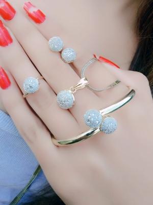 White diamond jewellery-combo