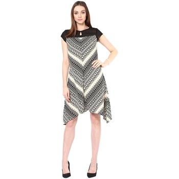 Multicolor woven polyester maxi-dresses