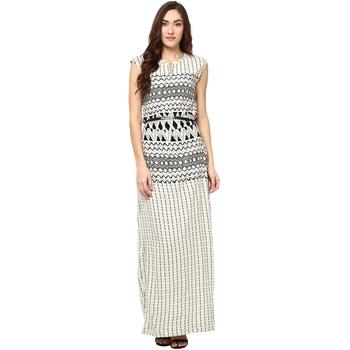 Multicolor woven viscose maxi-dresses