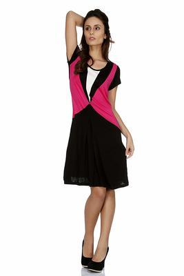 Black woven viscose maxi-dresses