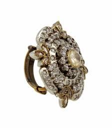 Buy Golden Beige Antique Victorian Finger Ring Jewellery for Women - Orniza Ring online