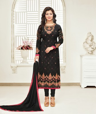 Black printed georgette salwar