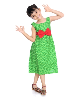 Cotton Frock With Big Bow