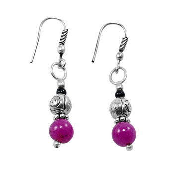 Multicolor jade earrings