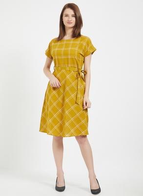 Yellow woven cotton dresses