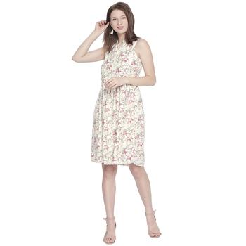 Multicolor woven viscose dresses