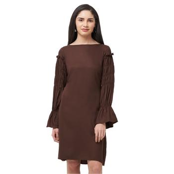 Brown woven viscose dresses