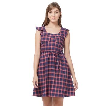 Blue woven cotton dresses