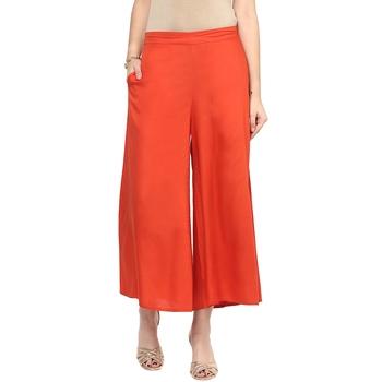 Orange Solid Culotte