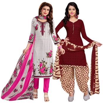 Off-white printed cotton salwar