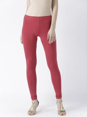 Red Solid Churidar Leggings