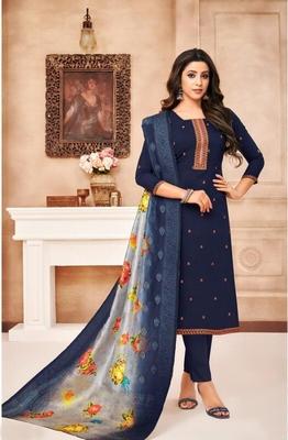 Designer Maslin Silk Semi-Stitched Salwar Suit