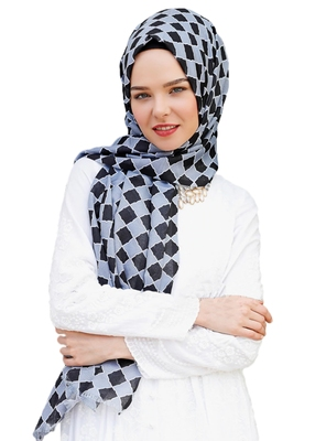 Women'S Casual Wear Printed Pashmina Cotton Scarf Hijab