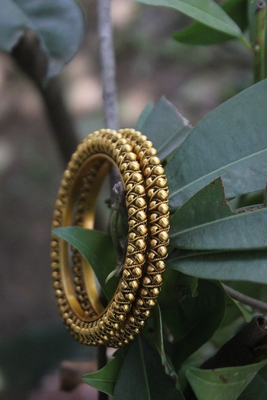 Gold Plated Temple Work Bangle