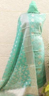 Women's Chanderi Banarasi Unstitched Suit Fabric