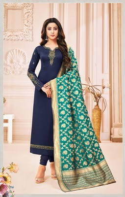 Designer Pure Cotton Jam Silk Un-Stitched Salwar Suit
