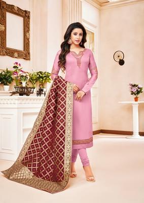 Designer Pure Cotton Jam Silk Un-Stitched Salwar Suit
