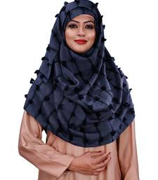 Pom Pom Viscose Cotton Arabian Scarf Hijab For Women