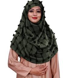 Festive Wear Pom Pom Viscose Cotton Arabian Scarf Hijab For Women