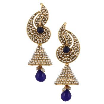 Pearl flower Indian jhumka earring jhumki moti