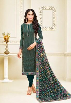 Designer Satin Georgette Semi-Stitched Salwar Suit