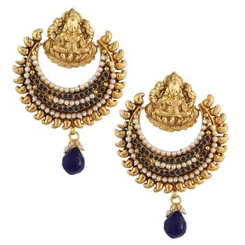 Ram leela inspired Goddess Lakshmi INDIA ADIVA pearl ethnic earring